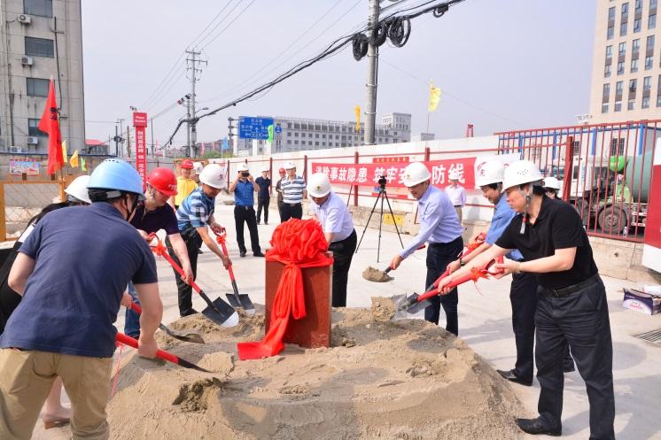 """""""轨道交通18号线国权北路站上盖改扩建项目""""奠基启动"""